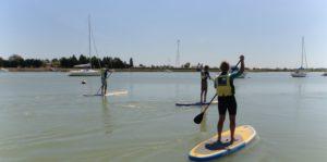balade des personnes en paddle