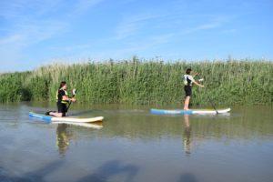 personne en balade sur un paddle