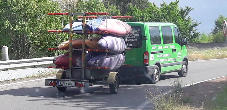 Camion La touvre Angoulême kayak