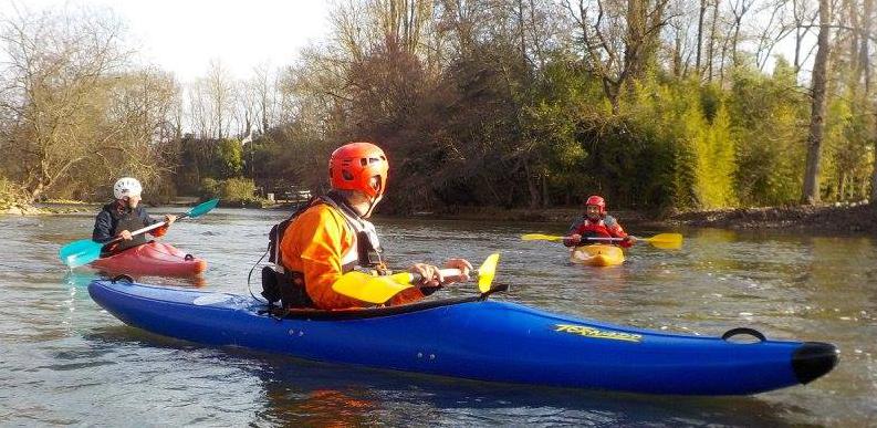 touvre kayak rivière