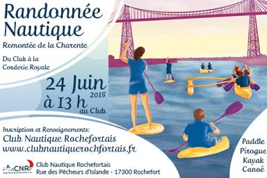 Remontée de la Charente le 24 juin à 13h
